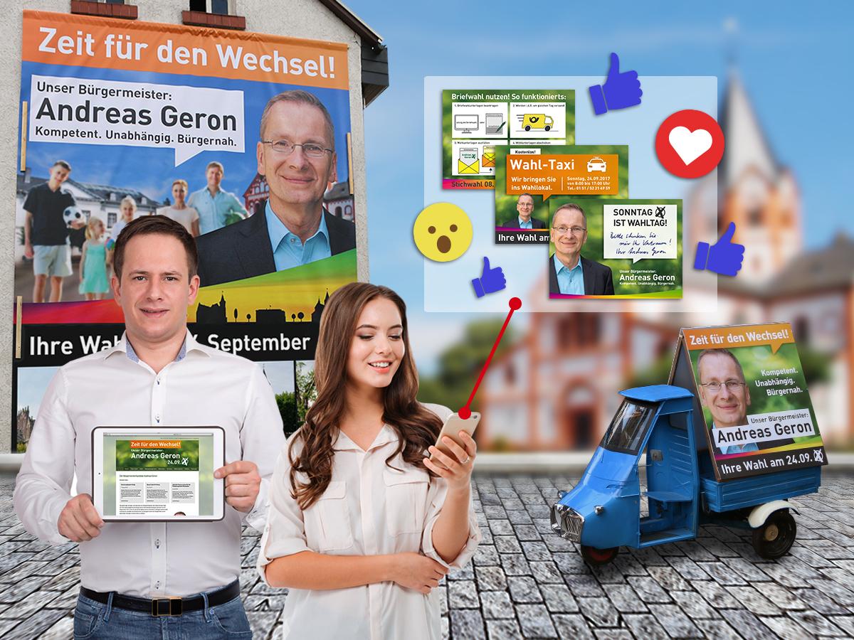 FRIEDSAM Werbeagentur realisiert Projekt für Bürgermeisterwahl – Kampagne