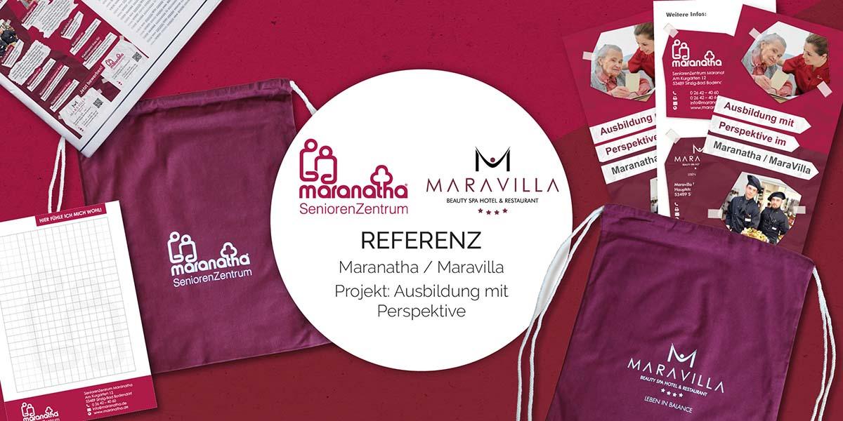 FRIEDSAM Werbeagentur realisiert Projekt für Maranatha/Maravilla – Ausbildung mit Perspektive