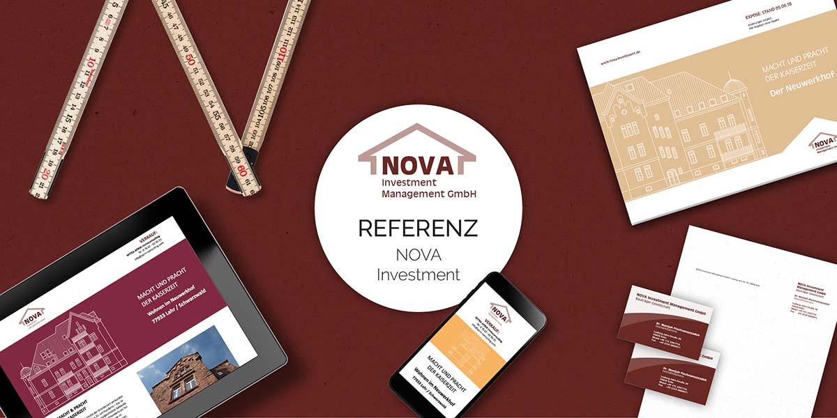 FRIEDSAM Werbeagentur realisiert Projekt für Nova Investment