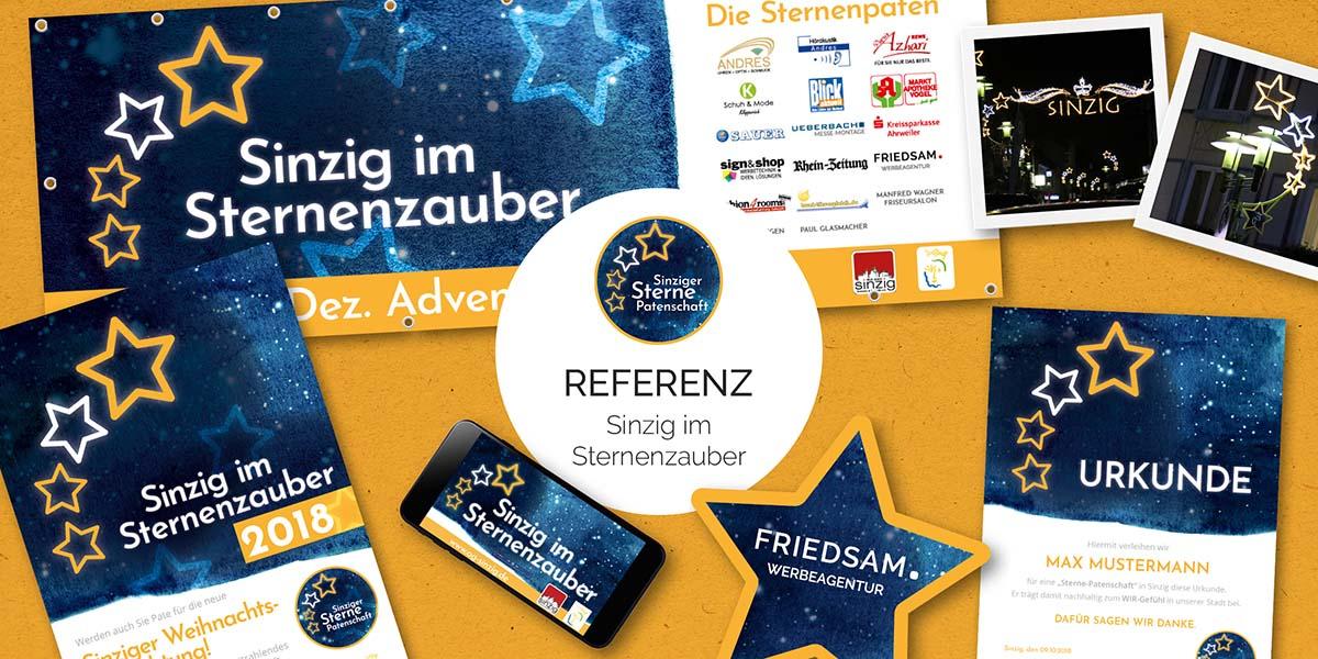 FRIEDSAM Werbeagentur realisiert Projekt für Sinzig im Sternenzauber