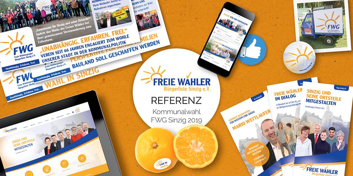FRIEDSAM Werbeagentur realisiert Projekt für Freie Wähler Sinzig