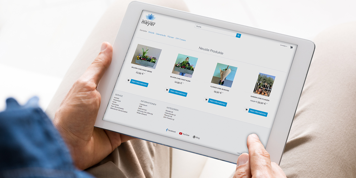 FRIEDSAM Werbeagentur realisiert Projekt für Floristik & Ambiente Meyer