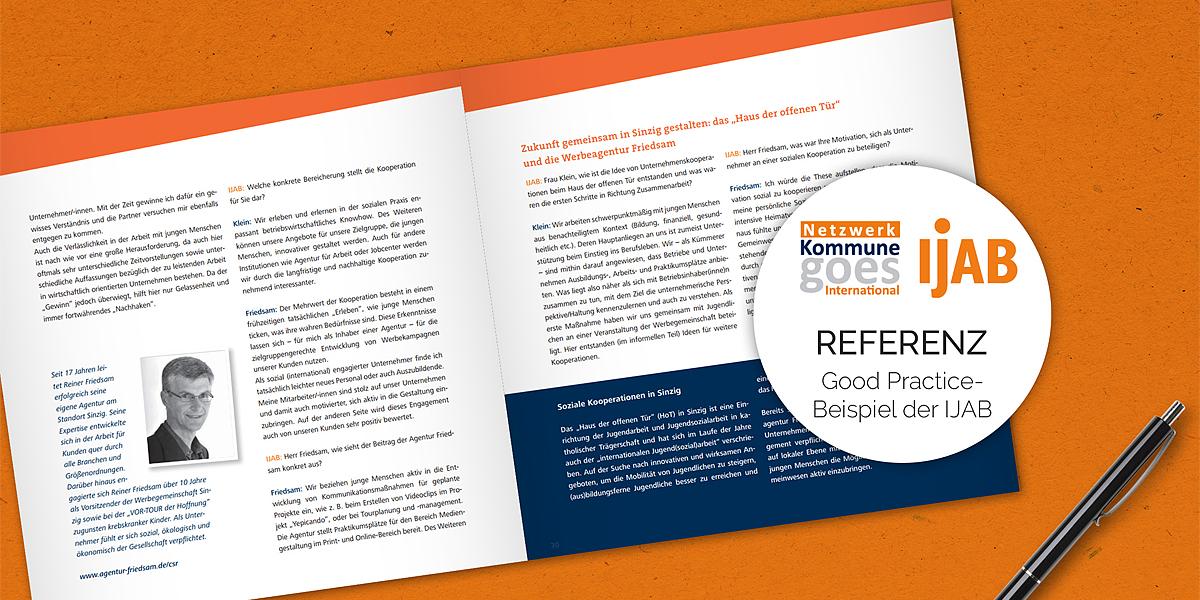 Agentur FRIEDSAM als Good Practice-Beispiel der IJAB ein CSR Projekt der Friedsam Werbeagentur